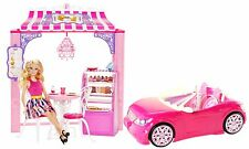 Barbie Life in the Dreamhouse Malibu Ave Bakery & Doll Playset + Convertible Car