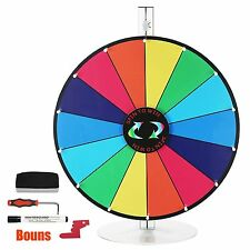 Editable 24 Inch Color Prize Wheel of Fortune Trade Show Spin Game Party Pub Top