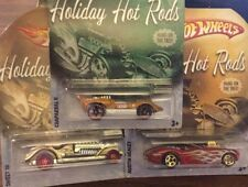 Hot Wheels Holiday Hot Rods Hang On Tree, Chaparral II, Sweet 16, Austin Healey