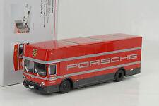 Porsche Mercedes-Benz Renntransporter LKW Truck red rot O317 1:43 Premium