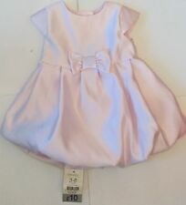 New Adorable Satin Feel Lilac Bow Baby Girl Dress 3-6 Months George Christening