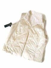 RALPH LAUREN Cream Quilted Faux Persian faux Lamb Fur Reversible Vest XL new