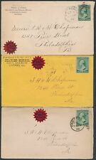(3) DIFF USED COVERS W/ WORLD'S FAIR CHICAGO 1892 OUR CHOICE STICKERS BS1479