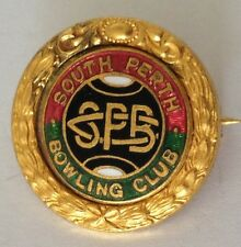 South Perth Classic Bowling Club Badge Rare Vintage (K7)