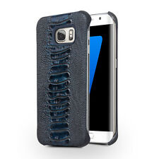 Samsung Galaxy S7 EDGE Phone Genuine Leather Luxury Ostrich Style Case Cover New