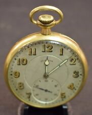 1917 Working 14k Gold Illinois Lincoln Grade 21 Jewels 5 Adjust Pocket Watch