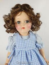 CURLY LIGHT BROWN DOLL WIG WITH A BRAID SIZE 8-9""