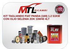KIT TAGLIANDO FIAT PANDA (169) 1.2 51KW CON OLIO SELENIA 20K 10/40 4LT