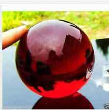 40mm + Stand Asian Rare glass red Magic Crystal Healing Ball Sphere+gift