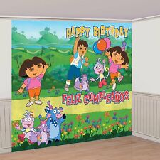 Dora The Explorer Giant Scene Setter Decorating Kit 8 Ft -NEW!!!