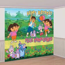 Dora The Explorer Giant Scene Setter Decorating Kit 8 Ft -NEW!!!