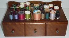 VTG Wooden Wood Drawer Floss Thread Craft Organizer Storage Cabinet Box 10x5x4