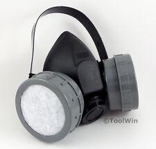 Respirator Mask Assembly with Dual Filter Cartridges Gas Organic Vapor