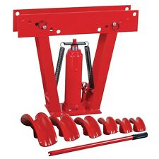 Heavy Duty 12Ton Hydraulic Manual Pipe Bender 6 Dies Tubing Tube Bending Exhaust