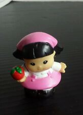 Fisher Price Little People Girl Sonya Pink Dress Red Apple Replacement