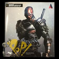 "Batman ARKHAM Origins DEATHSTROKE 10"" Action Figure PLAY ARTS Kai Authentic USA!"