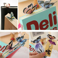 5Pcs Butterfly Shape Exquisite Mini Bookmarks Stationery Reading Accessories MW
