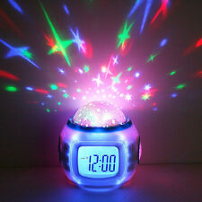 LED Music Starry Projection Digital Alarm clock Thermometer Calendar Fashion