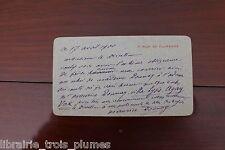 ✒ L.A.S. Maurice DONNAY écrivain demande de faire suivre son courrier