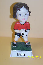 GIRLS / WOMEN   SOCCER NAMESAKE BOBBLE HEAD - PERSONALIZED - SEE NAME LIST