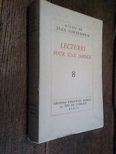 Lectures pour une ombre / Jean Giraudoux exemplaire 1427 /3040 sur vélin