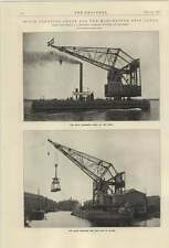 1921 60 Ton Floating Crane For Manchester Ship Canal Werf Gusto