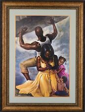 "African American Black Art Print ""BEHIND EVERY GREAT MAN"" by Kevin Williams Wak"