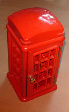 Red Telephone Box Novelty  Wooden Jewellery Box with Drawers - Superb
