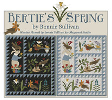 Bertie's Spring Wool/Woolies Flannel Applique COMPLETE Quilt Pattern & Buttons
