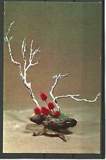 "USSR URSS 1976 New Year ikebana ""invierno Theme"" Congratulation mc Mk n3 New!"