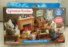 Sylvanian  Families COUNTRY LIVING ROOM SET WITH GLOWING FIRE  FLAIR 4188  BNISB
