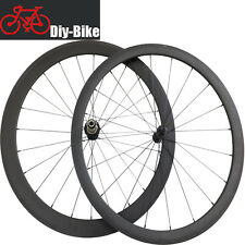 Carbon road bike Wheelset 38mm+50mm Ceramic Bearing Hubs Carbon Clincher Wheels