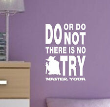 Do or Do NOT There is NO TRY Quote vinyl decal sticker wall art Star Wars YODA1