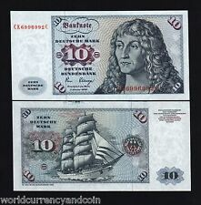 GERMANY 10 MARKS P31D 1980 SHIP DURER EURO UNC GERMAN CURRENCY MONEY BILL NOTE