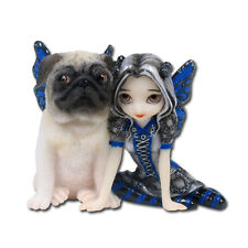 JASMINE BECKET-GRIFFITH ART.PUG PIXIE STRANGELING FAIRY FIGURINE.DOG COLLECTIBLE