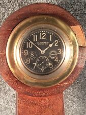 Waltham 8 Day 15 Jewels Gimbal Brass Mount Beveled Lens Antique Auto Clock 1910