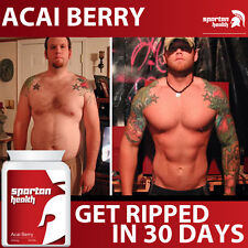 ACAI SPARTAN HEALTH ACAI BERRY PILLS TABLETS EXTREME FAT BURNER WEIGHT LOSS!!