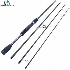 """6'9"""" Spinning Fishing Rod Travel Fishing Rod 4Pieces Spinning Carbon Fiber Rod"""