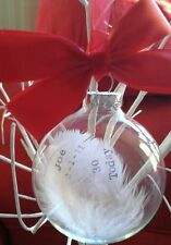 Personalised 30th 40th 50th 60th 70th 80th glass bauble keepsake gift present