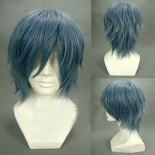 Gray Blue Mixed Togainu no Chi True Blood Kamina Akira layered Anime Cosplay Wig