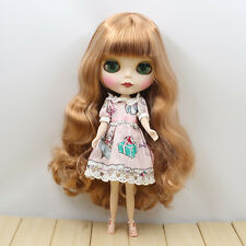 "New 12"" Blythe Doll Nude Long Curly blond hair from factory matte skin face 1626"