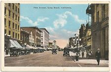 View on Pine Avenue in Long Beach CA Postcard