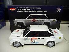 KYOSHO 1:18 FIAT 131 Abarth Rally San Remo 1980 Walther Röhrl NUOVO NEW