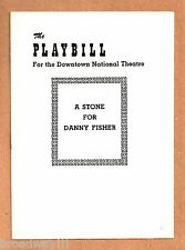 "Zero Mostel ""A STONE FOR DANNY FISHER"" Sylvia Miles / Phillip Pine 1954 Playbill"