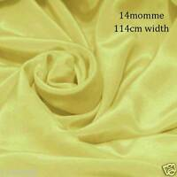"#16 (mellow yellow) Silk Fabric 45"" wide 14momme Pure Silk Crepe De Chine"