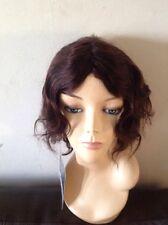 Ladys 100% Human Hair Wavy Short Wig Colour #2 Dark Brown Maollywigs (Ashley )