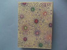 HERO ARTS RUBBER STAMPS PETALS & PINWHEELS WOOD STAMP