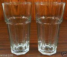 "Pair of Anchor Hocking GIBRALTAR Clear 6 3/8"" Ice Tea Cooler Glasses 16 oz. COOL"