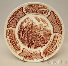 """Alfred Meakin England FAIR WINDS BROWN Bread & Butter Plate(s) 7"""""""