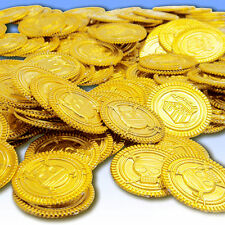 100pcs Plastic Pirate Gold Color Play Toy Coins Birthday Party Favors Hot Sell